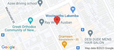 Location map for 7/2 Croydon Street Lakemba