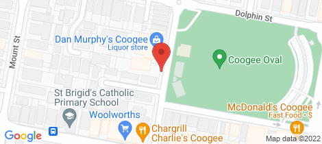 Location map for 8/108 Brook Street Coogee
