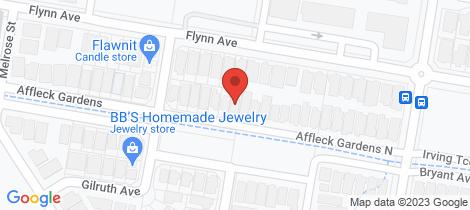 Location map for 36 Affleck Gardens North Middleton Grange