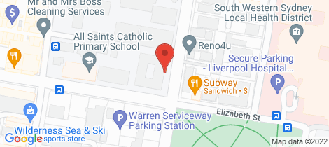 Location map for 106/69-73 Elizabeth Street Liverpool