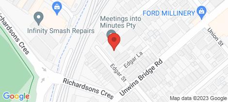 Location map for 6/15-25 Edgar Street Tempe
