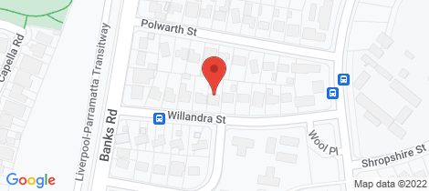 Location map for 15 Willandra Street Miller