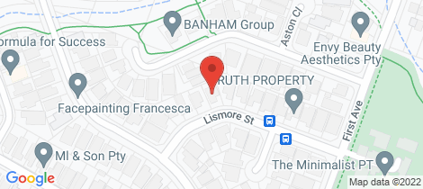 Location map for 19 Lismore Street Hoxton Park