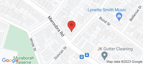 Location map for 3/412 Maroubra Road Maroubra