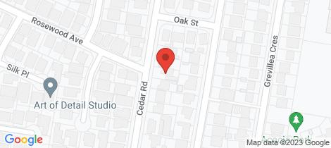 Location map for 18 Cedar Road Prestons
