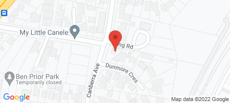 Location map for 2 Dunmore Crescent Casula