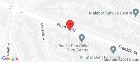 Location map for 5/240-242 Franklin Street Matraville