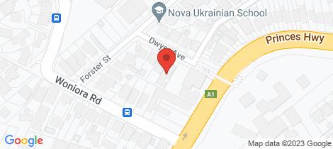 Location map for 3 Dwyer Avenue Blakehurst