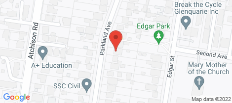 Location map for 21 Parkland Avenue Macquarie Fields