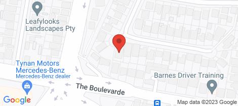 Location map for 1/25 Goodacre Avenue Miranda
