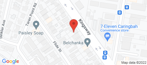 Location map for 394 Kingsway Caringbah