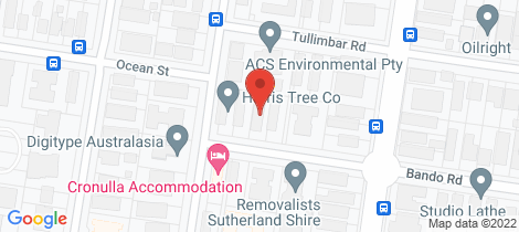 Location map for 2/27 Bando Road Cronulla