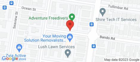 Location map for 13/22-24 Bando Road Cronulla