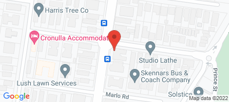 Location map for 10/92 Elouera Road Cronulla