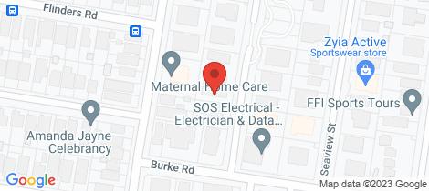 Location map for 1/41 Judd Street Cronulla