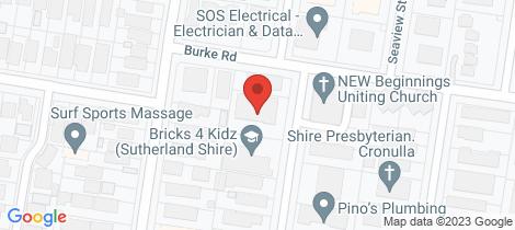Location map for 24/3-7 Gosport Street Cronulla