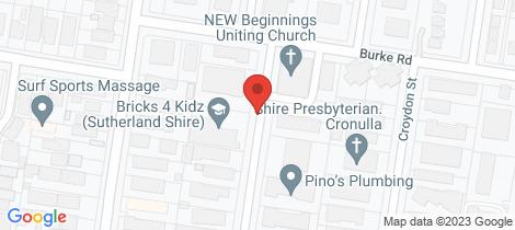 Location map for 13/3-7 Gosport Street Cronulla