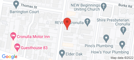 Location map for 7/60 Kurnell Road Cronulla