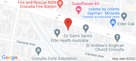 Location map for 2/68-74 Kingsway Cronulla