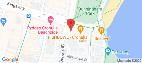 Location map for 33c/1 McDonald Street Cronulla