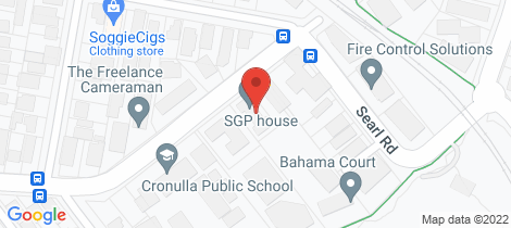 Location map for 14/6 Burraneer Bay Road Cronulla