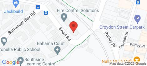 Location map for 13/1-5 Searl Road Cronulla