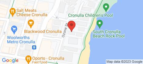 Location map for 7/20 Ozone Street Cronulla