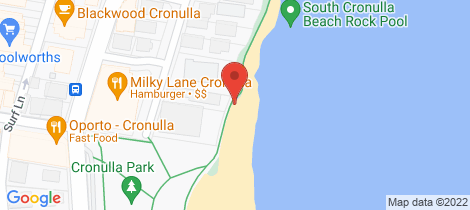 Location map for 1/26 Ozone Street Cronulla