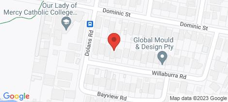 Location map for 29 Willaburra Road Burraneer