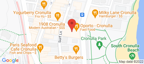 Location map for 10/2 Surf Road Cronulla
