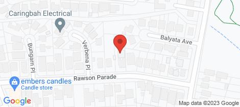 Location map for 11A Rawson Parade Caringbah South