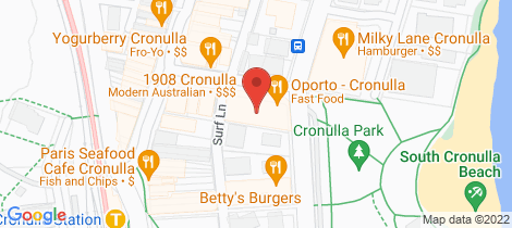 Location map for 15/2 Surf Road Cronulla
