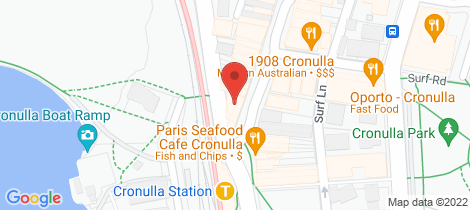 Location map for Shop 3/113 Cronulla Street Cronulla