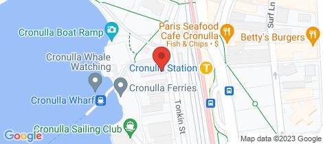 Location map for 6/5 Tonkin Street Cronulla