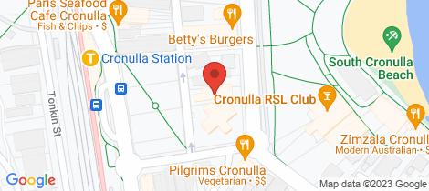 Location map for 9/79 Gerrale Street Cronulla