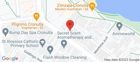 Location map for 2/44 Gerrale Street Cronulla