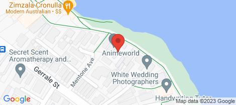 Location map for 10/12 The Esplanade Cronulla
