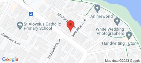 Location map for 72 Gerrale Street Cronulla