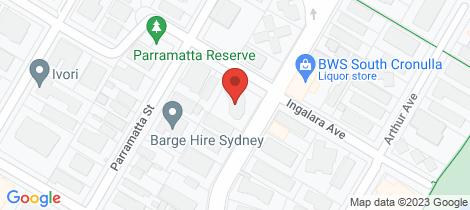 Location map for 2/31-35 Ewos Parade Cronulla
