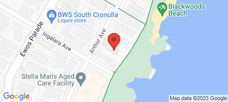 Location map for 2/18 Arthur Avenue Cronulla