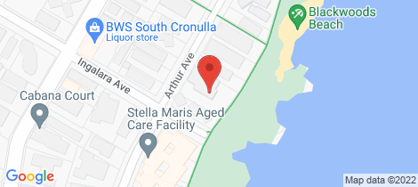 Location map for 11/18-20 Arthur Avenue Cronulla