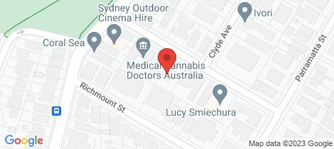 Location map for 8/16-20 Allison Road Cronulla