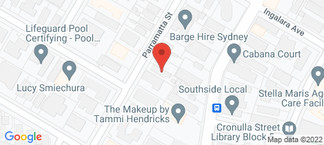 Location map for 3/52 Parramatta Street Cronulla