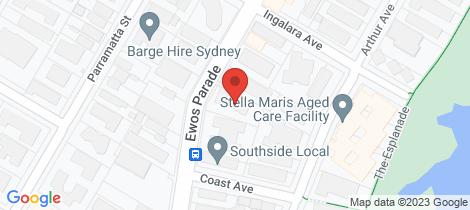 Location map for 16/44 Ewos Parade Cronulla