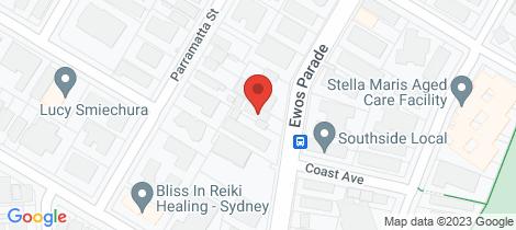 Location map for 1/53 Ewos Parade Cronulla