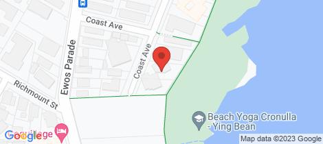 Location map for 3/22 Coast Avenue Cronulla
