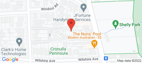 Location map for 6/91 Ewos Parade Cronulla