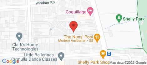 Location map for 15/93 Ewos Parade Cronulla