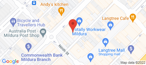Location map for Shop 4/76 Lime Avenue Mildura
