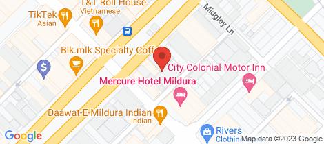 Location map for 34 - 40 Deakin Avenue Mildura